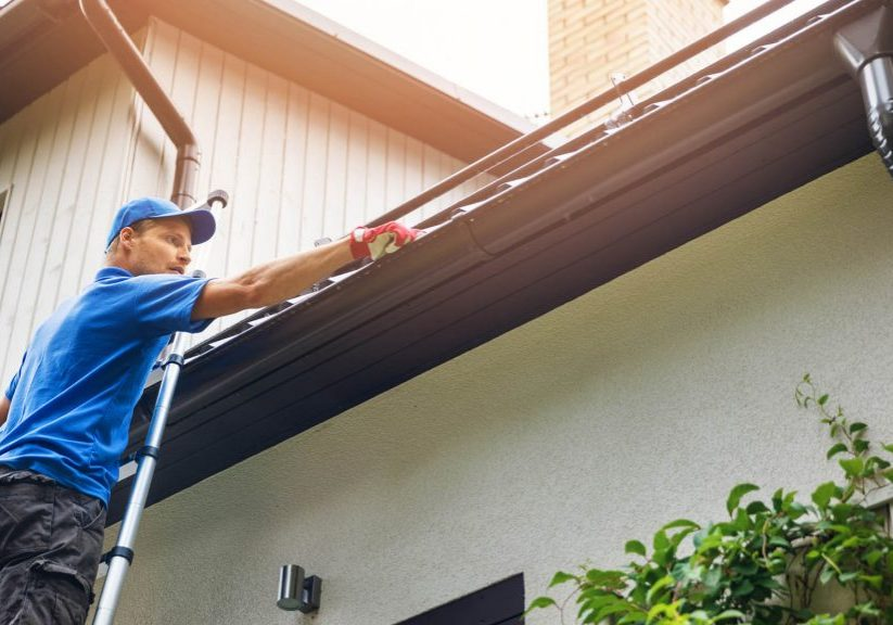 eavesthrough and downpipe installation